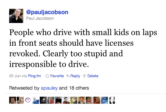 Twitter  pauljacobson  People who drive with small