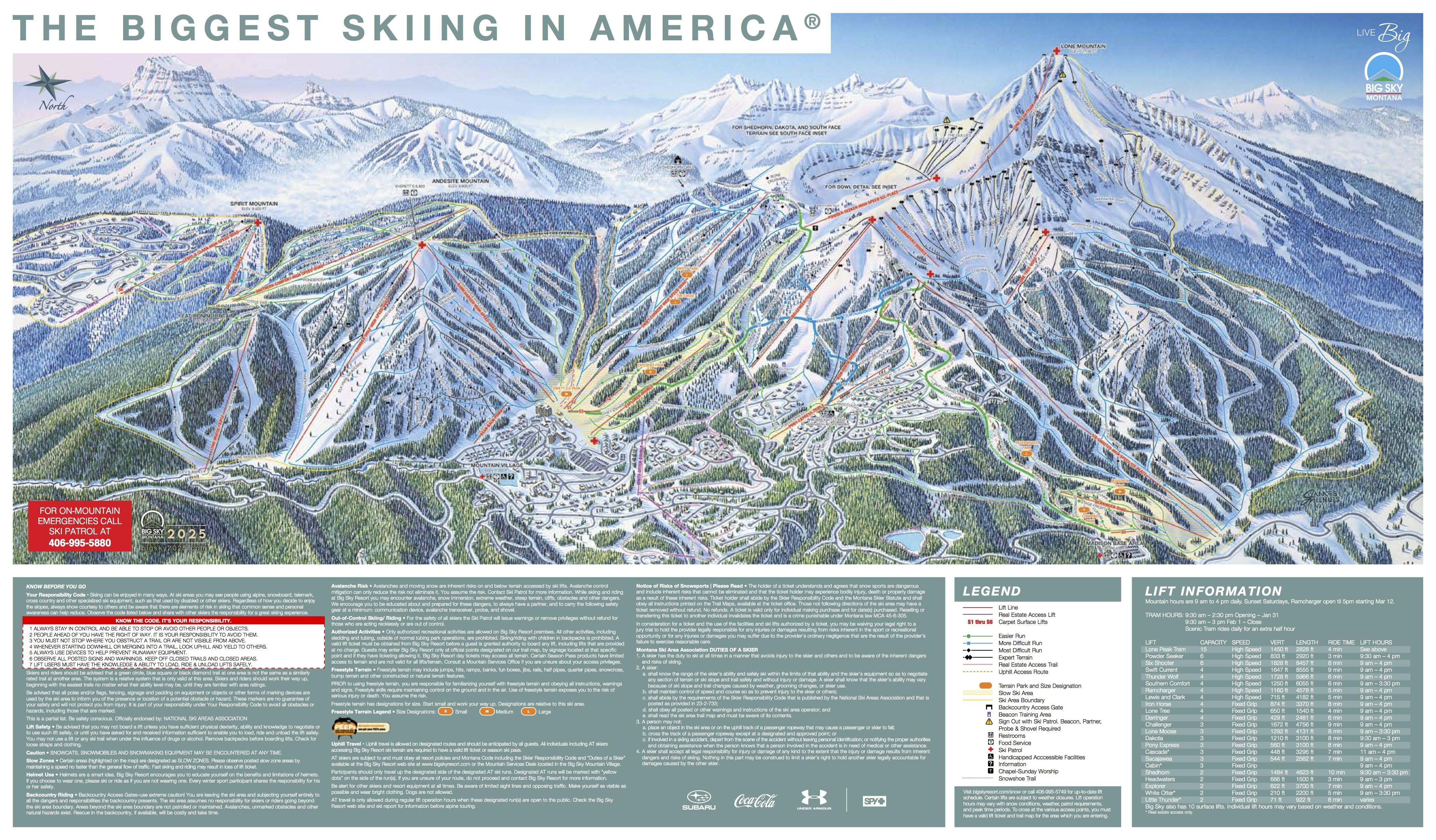 Lodging Big Sky Map Montana
