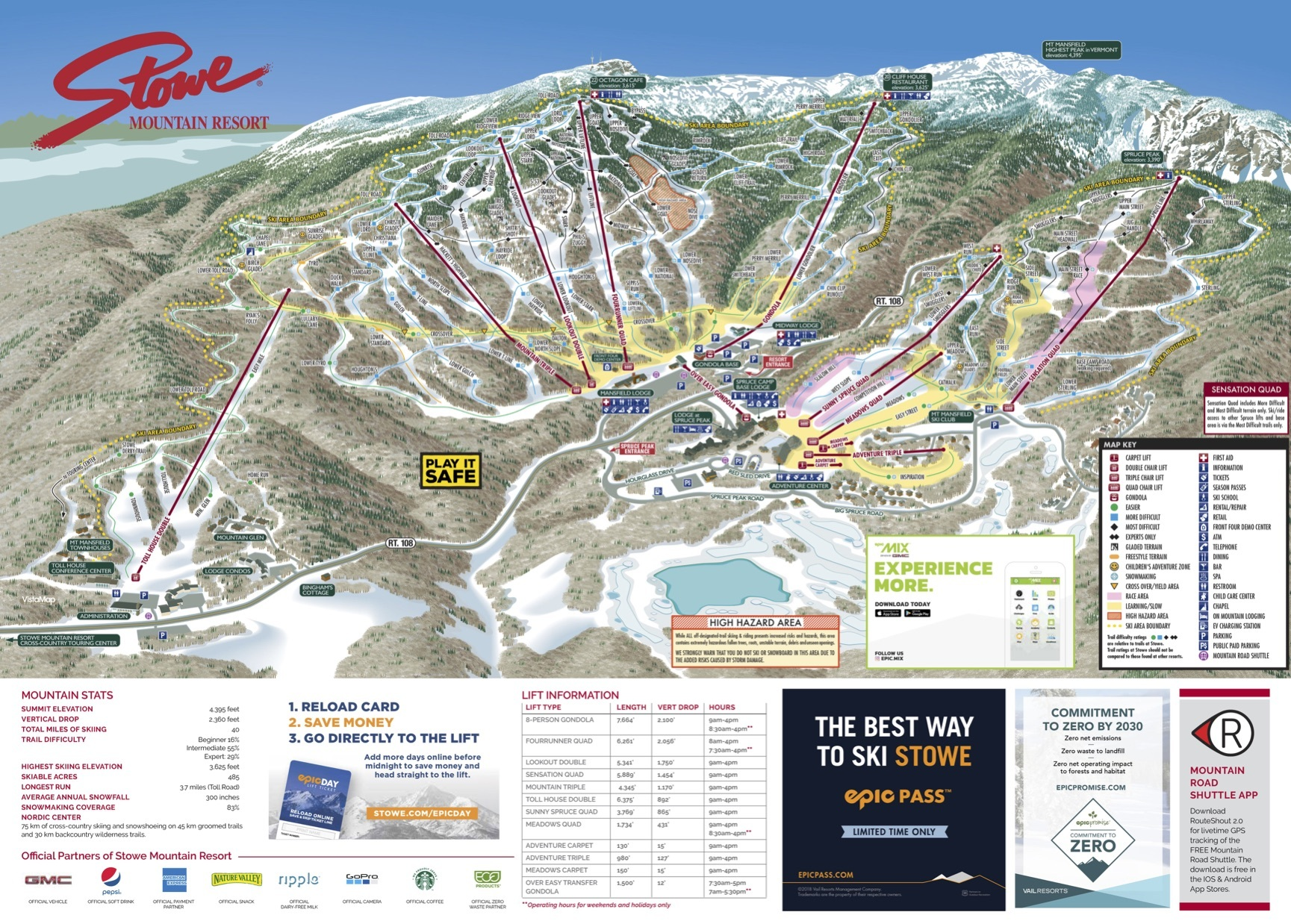 Directions Resort Ski Stowe Mountain