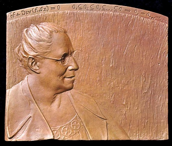 Obverse of Emmy Noether Plaquette, commissioned by the International Mathematical Union.
