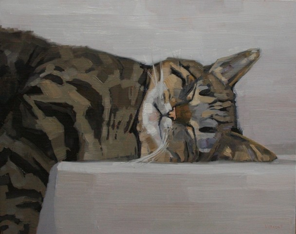 Image result for drawings and paintings of cats sleeping