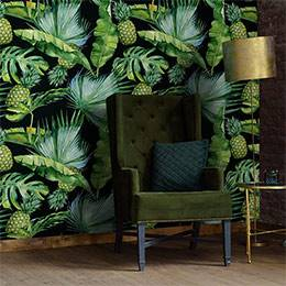 Wall Mural Living Room - Spending Time in the Tropics
