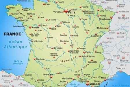 map of france and surrounding countries » Full HD MAPS Locations ...