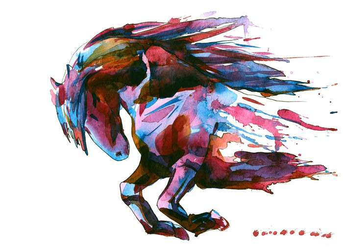 Horse Wall Mural Pixers We Live To Change