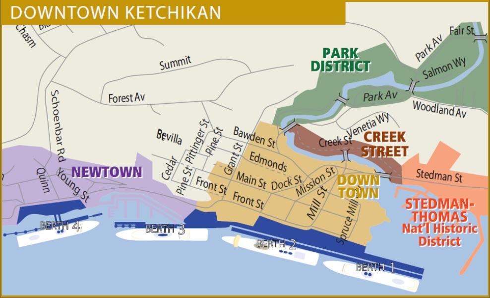 Skagway Alaska Cruise Port Map