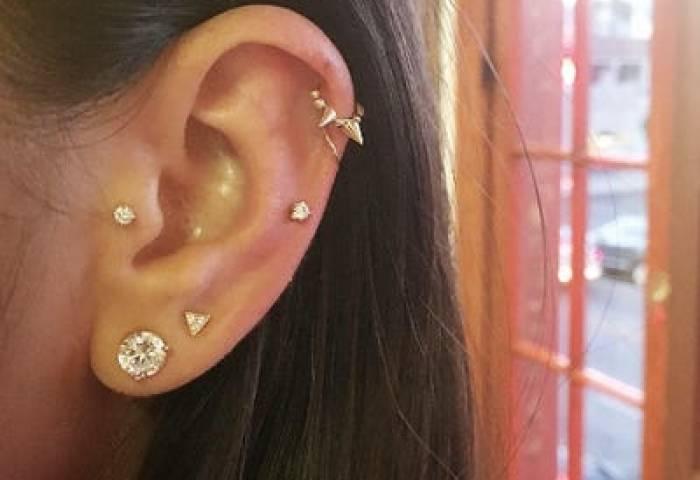 La Ear Piercing Trend Star Constellation Jewelry Photos