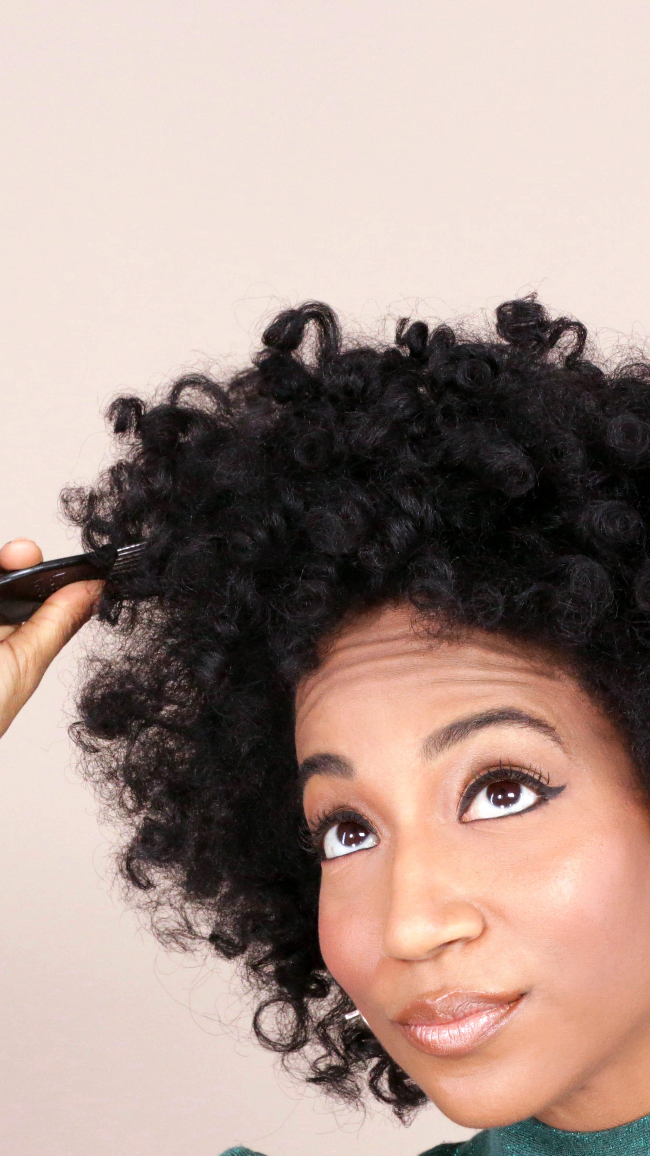 Curly Hair Teased Voluminous Hairstyle Tutorial