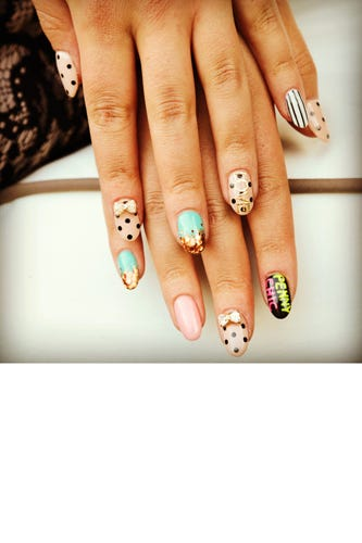 Penny Chic S Shauna Miller Just Redesigned Her Site Check It Out If You Haven T Already And Latest Nail Art Was Inspired By The Look Feel Of