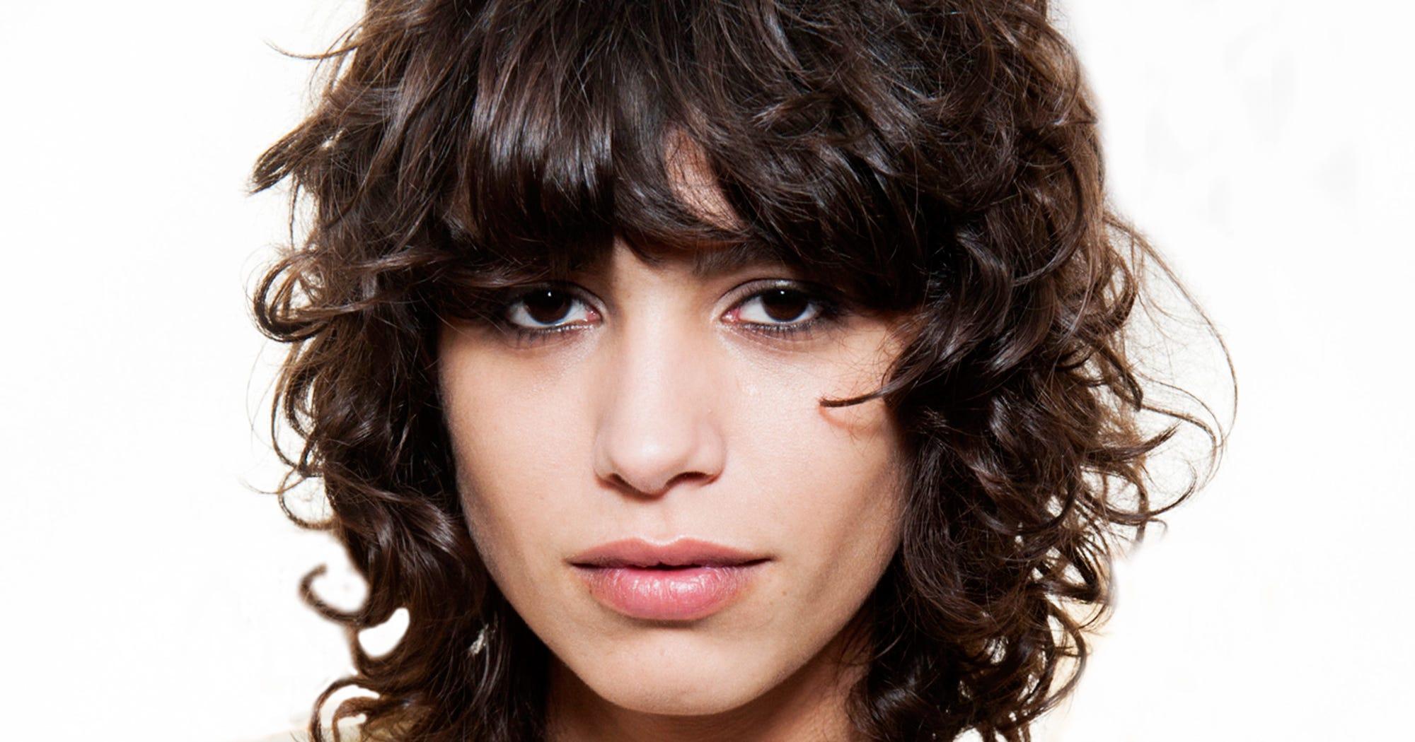 Curly Bangs Trend