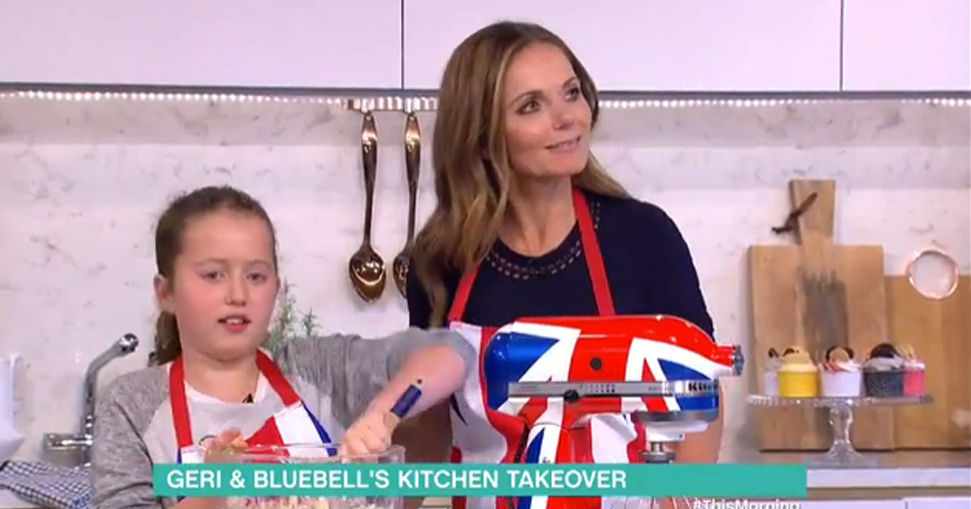 Ginger Spice Daughter Itv This Morning Cupcakes