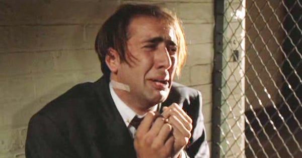 Nicolas Cage Crying Face Aubrey Peeples Interview