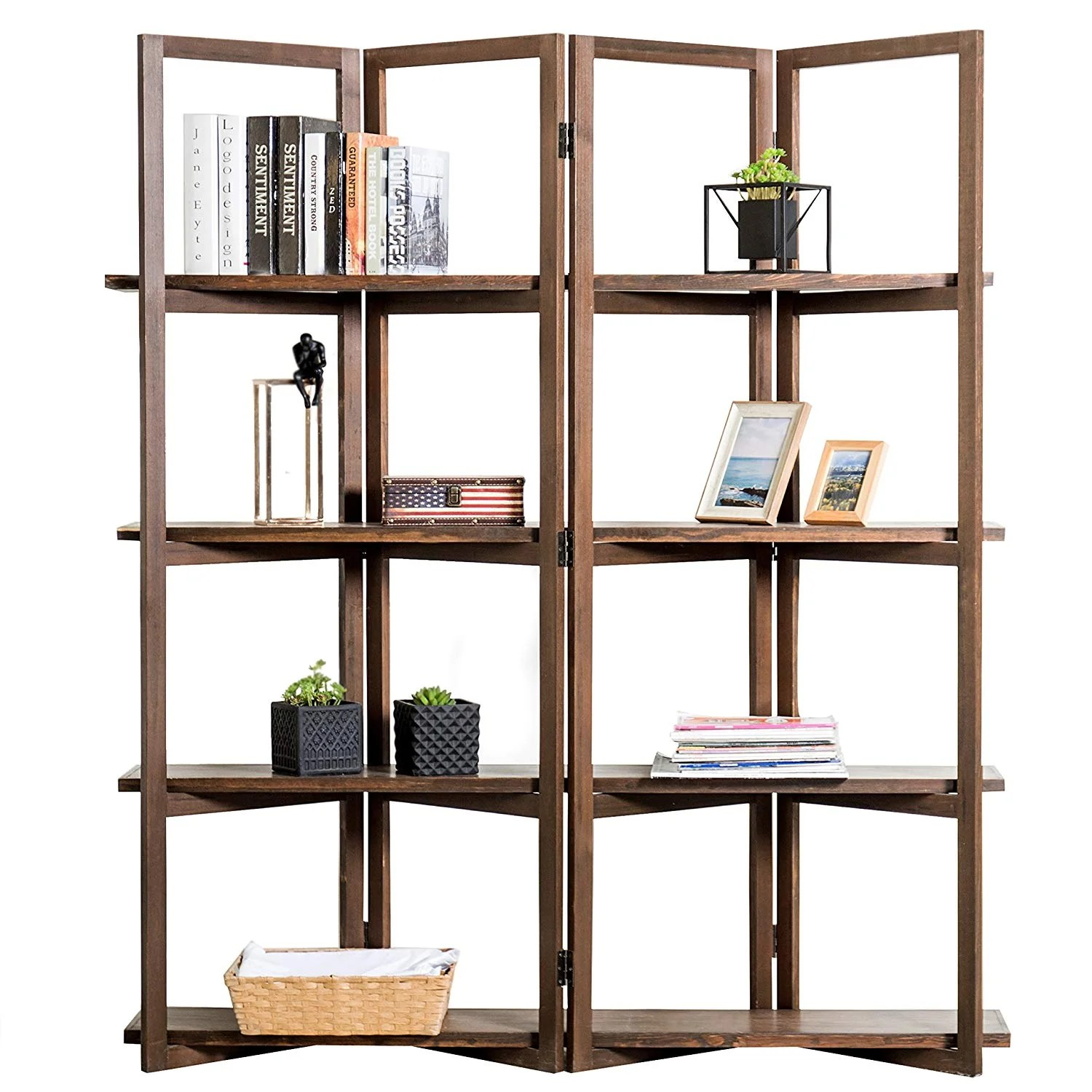 Mygift Open Bookcase Room Divider
