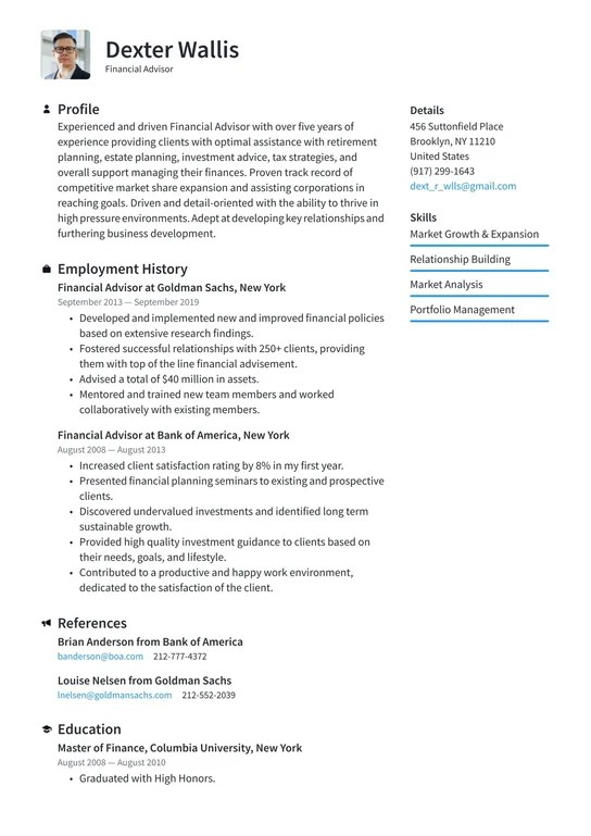 Financial analyst resume template   premium resume samples & example. Financial Advisor Resume Examples Writing Tips 2021 Free Guide