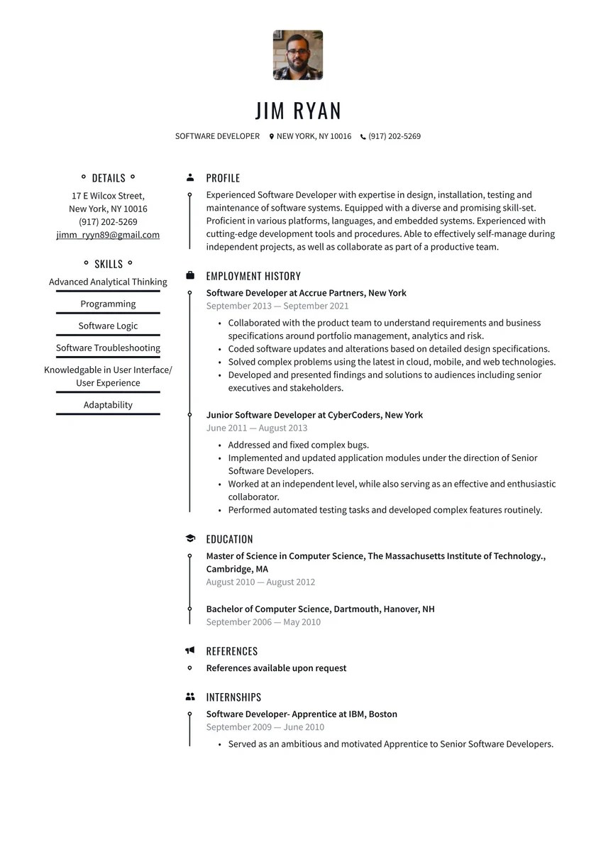 If you want employers to see you as the ideal candidate, you need to tailor your resume for each job for which you apply. Software Developer Resume Examples Writing Tips 2021 Free Guide