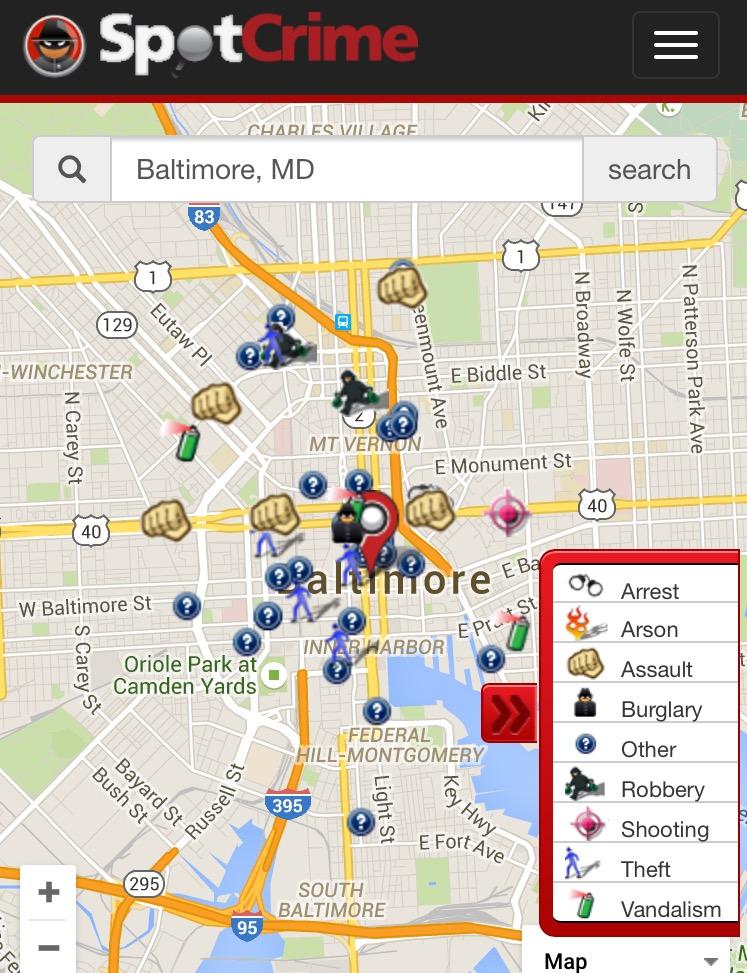Code Crime Statistics Map Zip