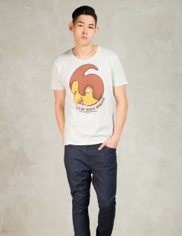 Nudie Jeans White Magic Man O-neck T-Shirt Picture