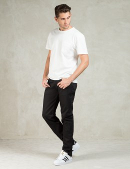 The Unbranded Brand UB255 Black Tapered Fit Selvedge Chino Picture