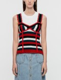 SJYP Stripe Bustier Knit Top Picutre