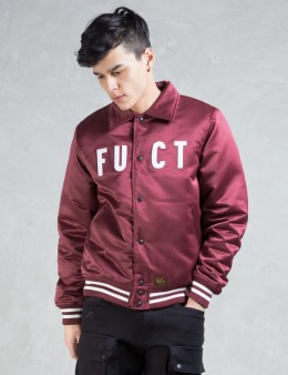 FUCT SSDD Burgundy Motor City Satin Stadium Jacket Picture
