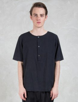 Our Legacy Cotton Weaved Henley S/S Shirt Picture