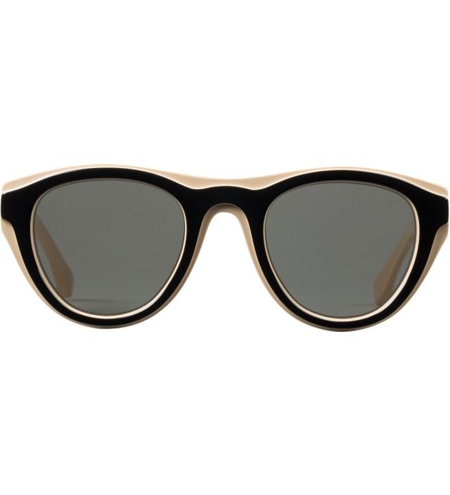 MYKITA Mykita x Maison Martin Margiela Nude/Black MMDUAL003 Dark Grey Solid Sunglasses