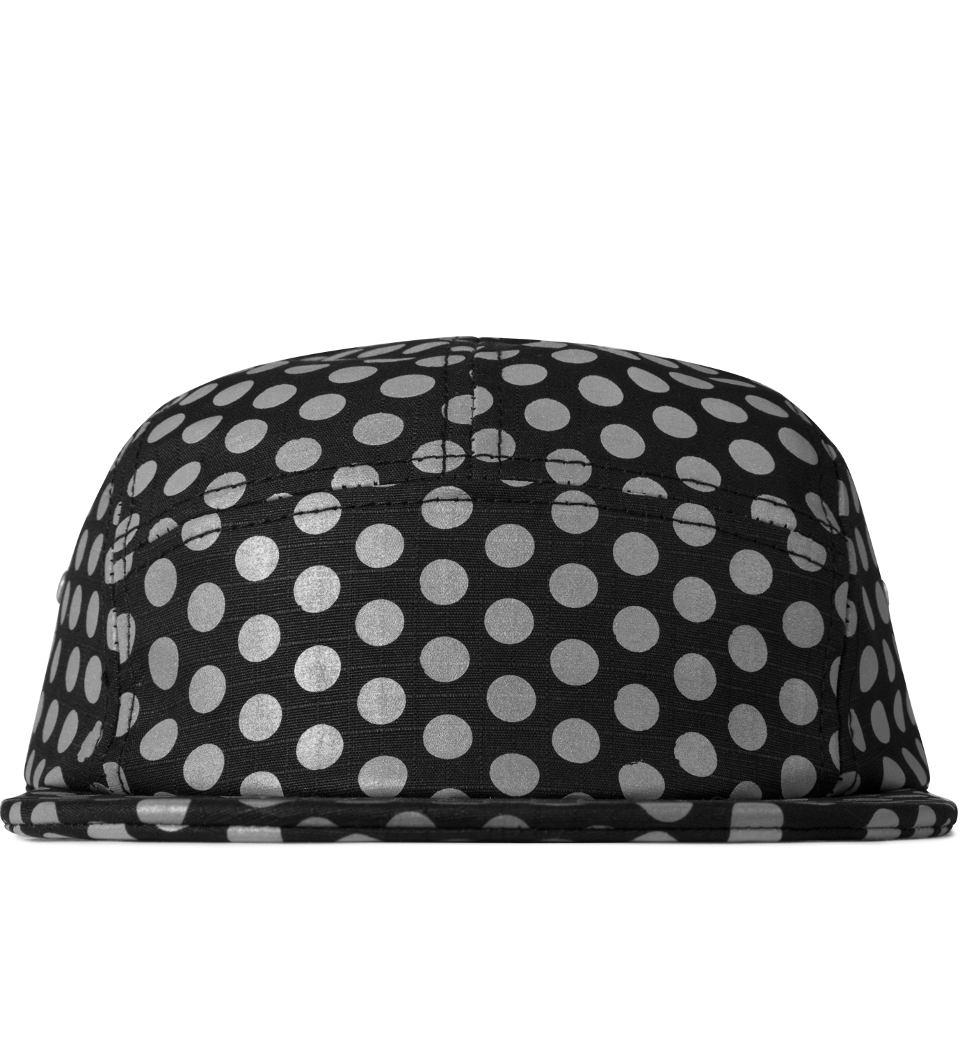 ICNY Black Dotted 5-Panel Cap