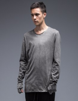 LOST & FOUND ROOMS Asymmetric Collar T-Shirt Picture