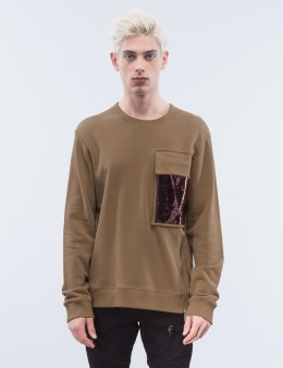 GENERAL IDEA Metallic Pocket Sweatshirt Picture