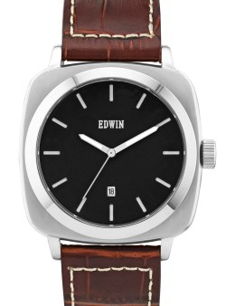 EDWIN Watch Black Dail With Brown Leather Band Julius Picture