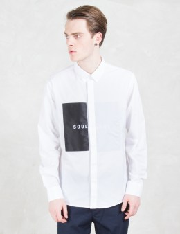 Soulland White Neatherall Button Down Shirt W. Oversize Picture