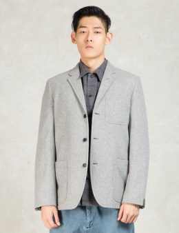 N.Hoolywood Grey Single Breast 3 Button Blazer Picture