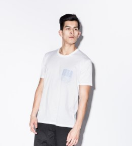 Aloye White/Light Blue AY025-01 Shirt Fabric S/S Pocket T-Shirt Picture