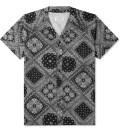 Shades of Grey by Micah Cohen Black Bandana Baseball Shirt Picture