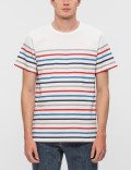 A.P.C. Thick Striped Regular S/S T-Shirt Picture