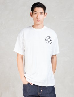 The Hundreds White Time Zone Soft Fit T-shirt Picture