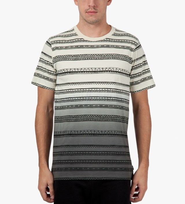 Stussy Black Fade Tom Tom Crewneck T-Shirt