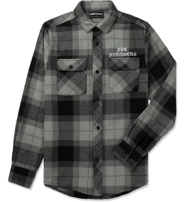 The hundreds black nation button up flannel shirt hbx for Button up flannel shirts