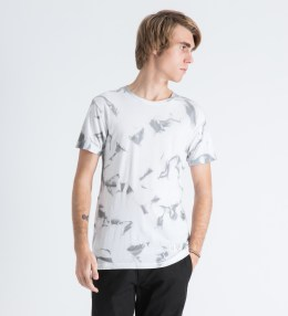 Mister White Marble Print Mr. Chrome Dye T-Shirt Picture