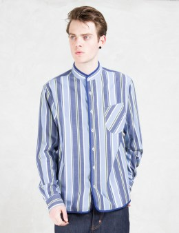 CLOT Striped Collarless L/S Shirt Picture