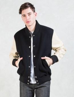 MKI Black Black/Off White Classic Varsity Jacket Picture