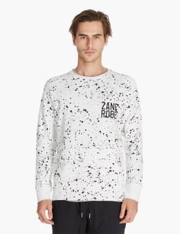 ZANEROBE White Splat Crewneck Sweatshirt Picture