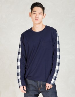 Aloye Navy Color Block L/s Shirt Picture