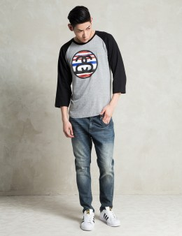 Stussy Grey Heather/Black Tom Tom Link Raglan Picture