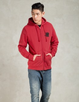 UNDEFEATED Red 5 Stroke SU15 Zip Hoodie Picture