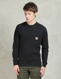 Carhartt WORK IN PROGRESS Black L/S Pocket T-Shirt Picture