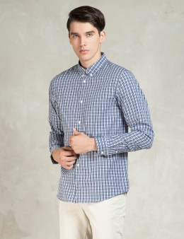 A.P.C. Dark Navy Chemise Button Down Shirt Picture