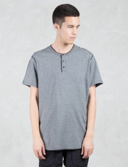REIGNING CHAMP Tiger Jersey S/S Henley T-Shirt Picture