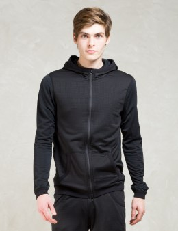REIGNING CHAMP Black Hwt Powerdry/lwt Powerdry Fz Hoodie Picture