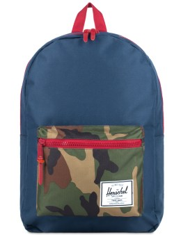 Herschel Supply Co. Navy/Woodland Camo/Red Settlement Plus Picture