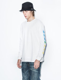Hombre Nino White Fmily Print L/S T-Shirt Picture